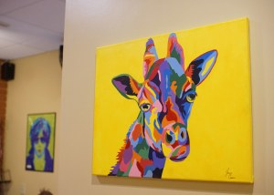 Wall painting of giraffe