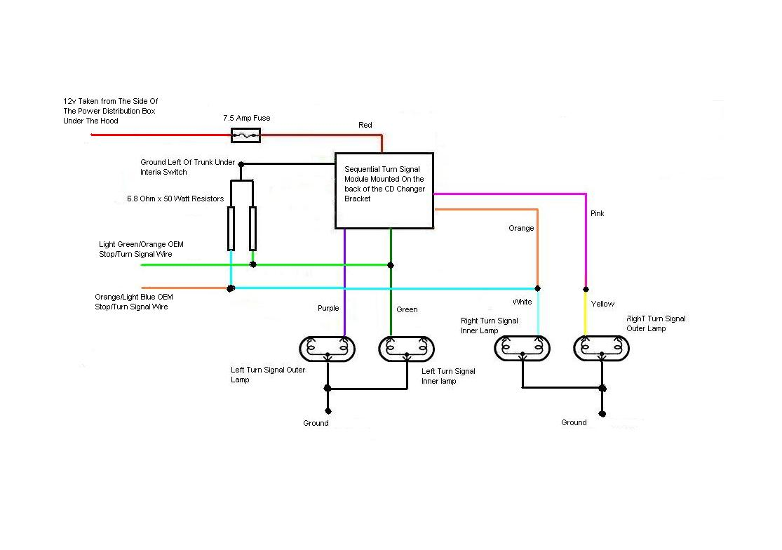 Mustang Turn Signal Wiring Diagram