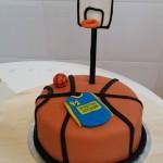 Tarta personalizada de baloncesto