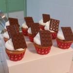 Minicupcakes de chocolate blanco