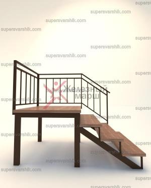 Уличная лестница из железа