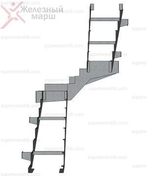 каркас лестницы из листового металла