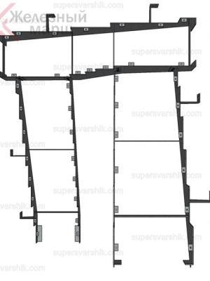 лестница на второй этаж на металлокаркасе