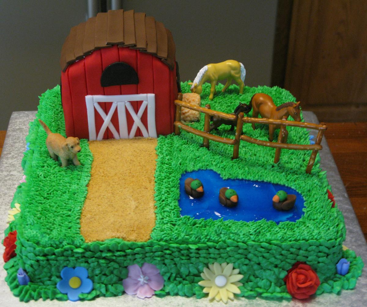 Horse Farm Cake