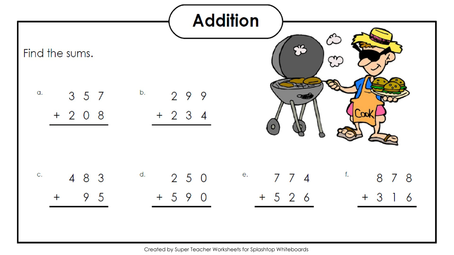 Super Teacher Worksheets 3 Digit Subtraction With