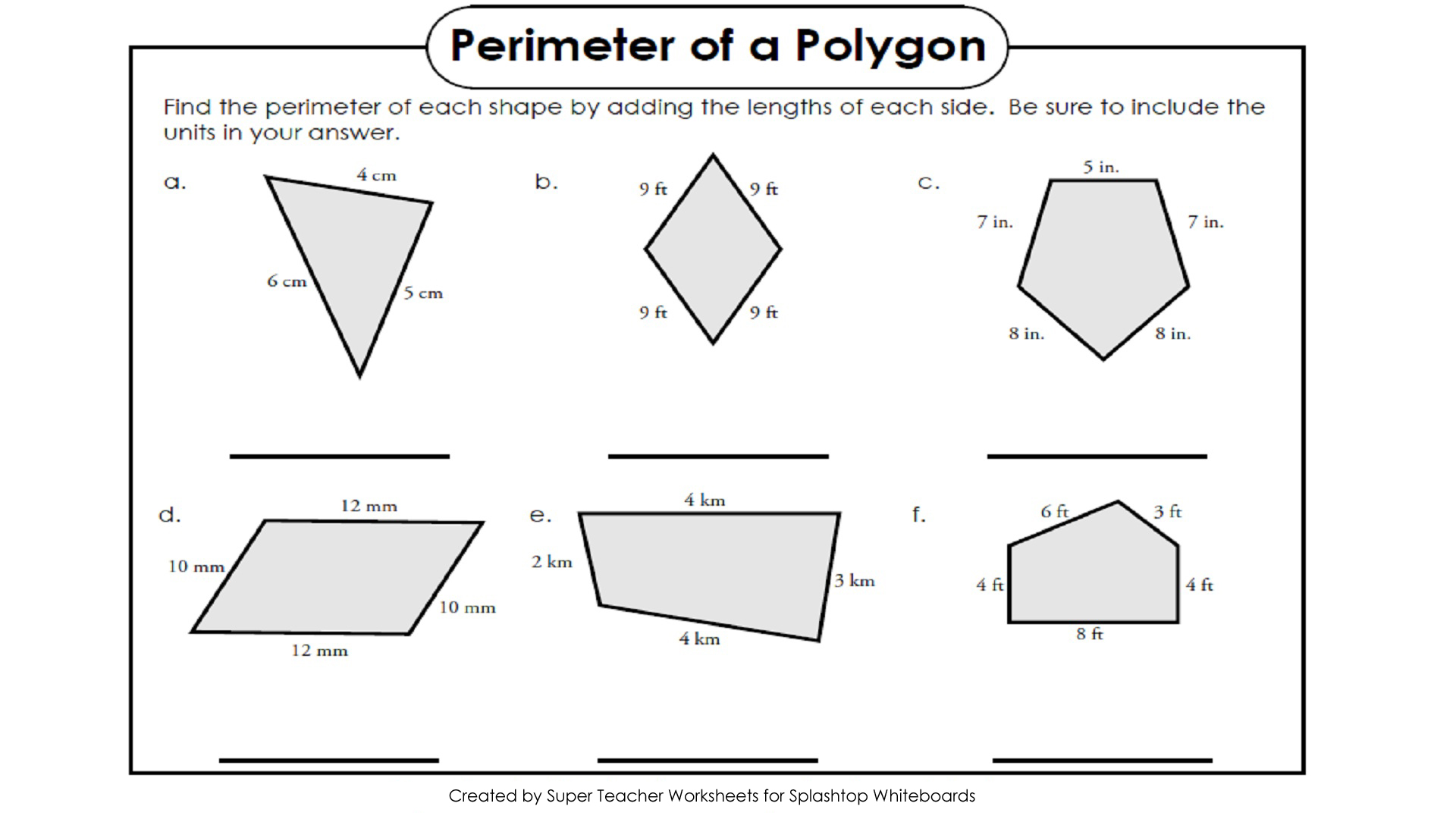 Perimeter And Area Worksheet Grade 3