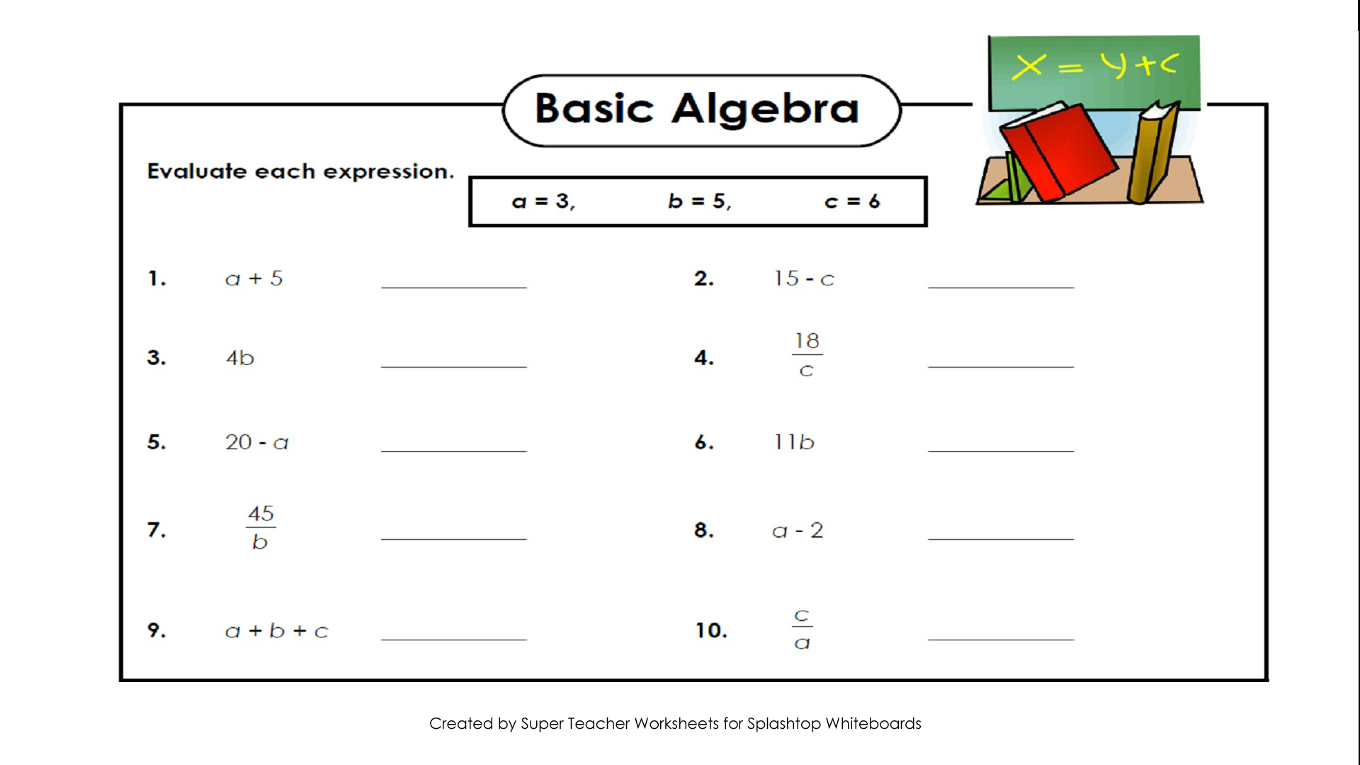Algebra Worksheet New 504 Algebra Worksheets Dad