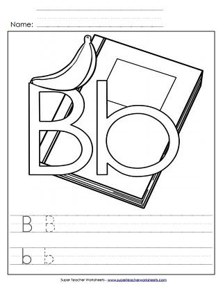 Letter B Worksheets Recognize Trace Print
