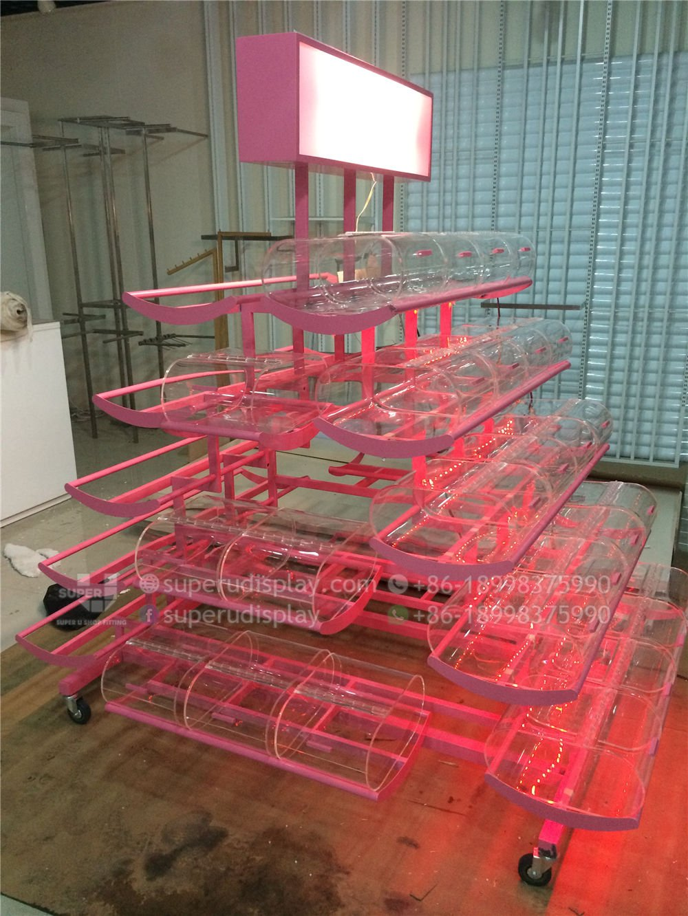 mobile retail shop candy display rack