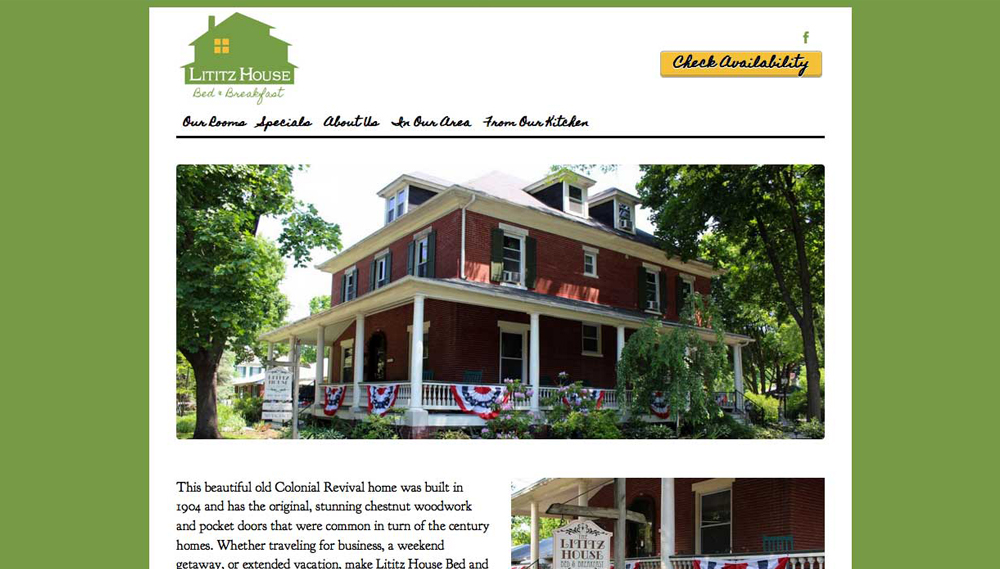 Lititz House Bed & Breakfast