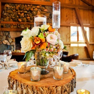 DIY Wedding Ideas - Tree Stump Centerpiece