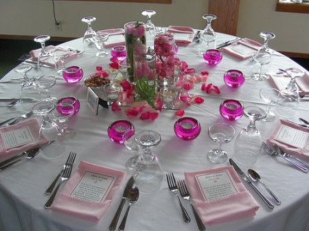 Easy Wedding Centerpieces - Vases and Votives