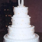 Four Tier Wedding Cake – White with Stars