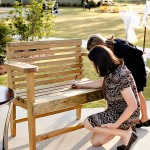 "A Wedding Guest Book Alternative – A ""Guest Book Bench"""