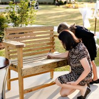 "A Wedding Guest Book Alternative - A ""Guest Book Bench"""