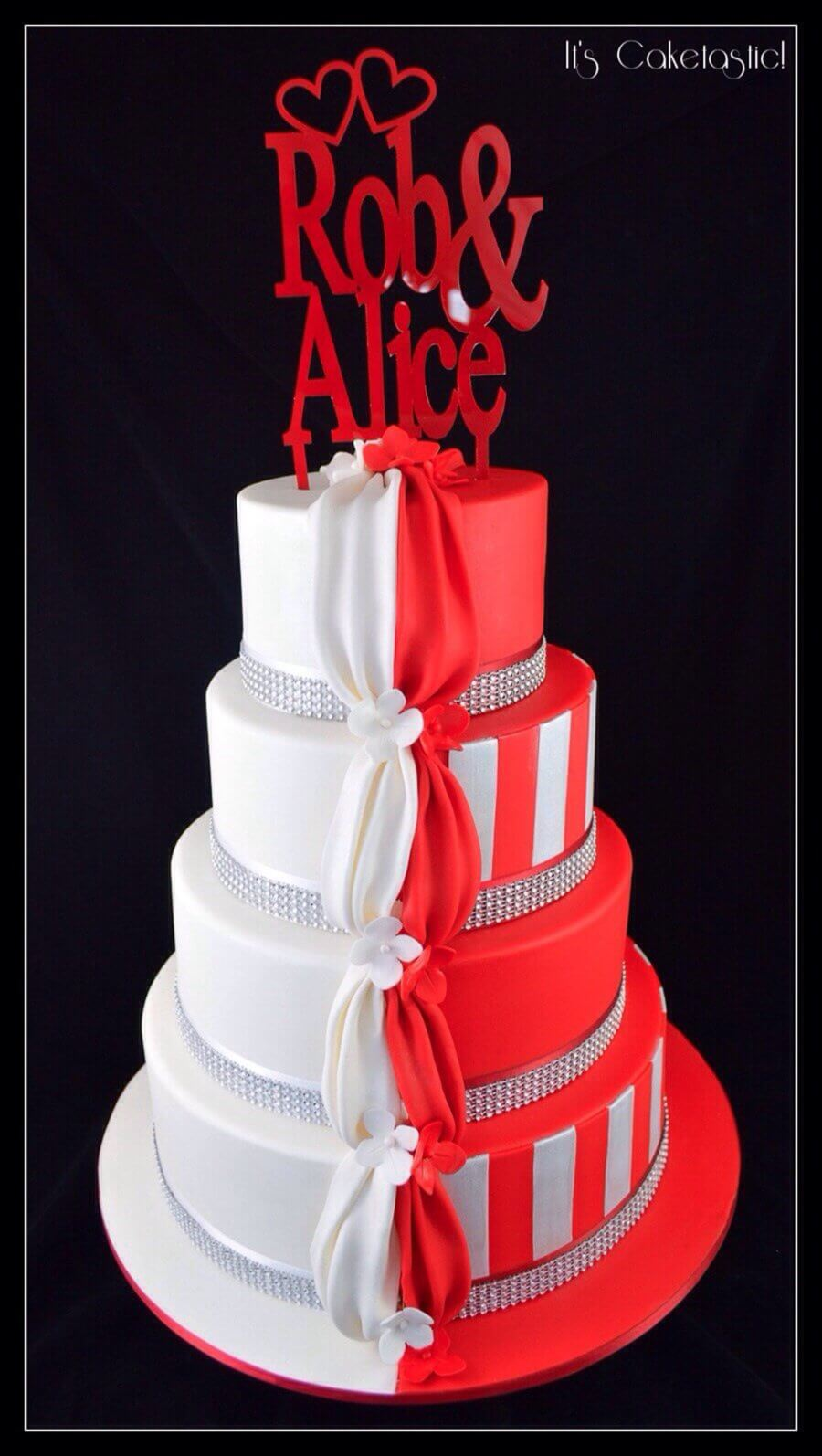 Stunning Red And White Wedding Cake Ideas Click To See All