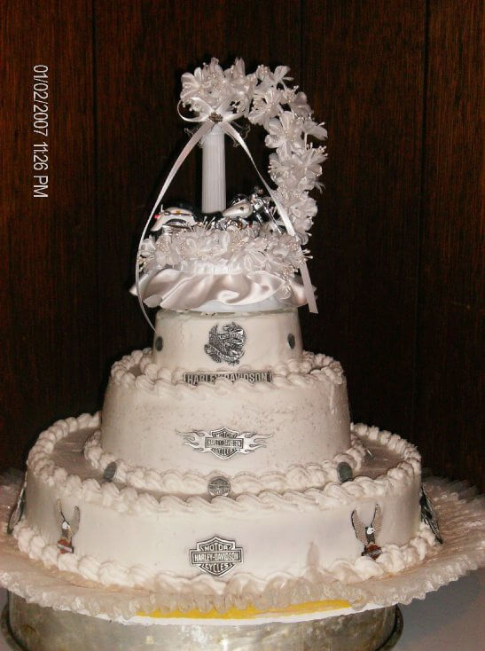 Harley Theme Wedding Cake