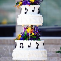 Music Notes Wedding Cake