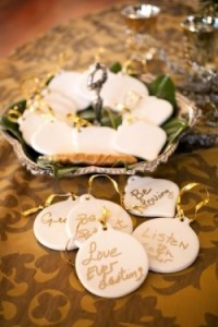 Picture of ornament guest book alternative for weddings