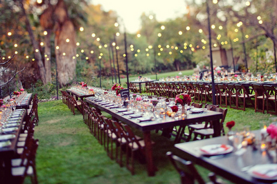 Outdoor wedding reception picture