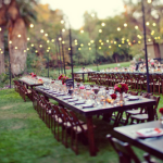 Outdoor Wedding Reception – Banquet Style