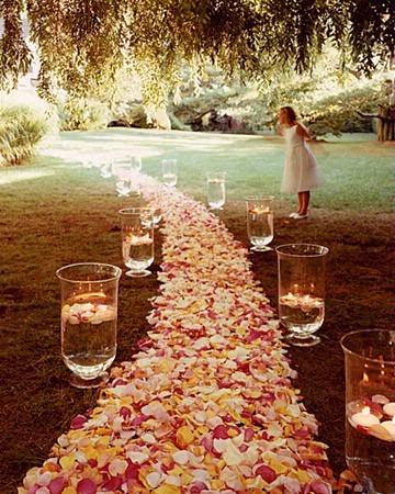 Petal Aisle Runner for Wedding