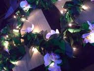 String of Lights With Silk Flowers DIY
