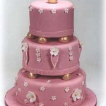 Three Tier Wedding Cake – Pink Fondant