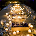 Wedding Centerpiece – Votives and Floating Candles