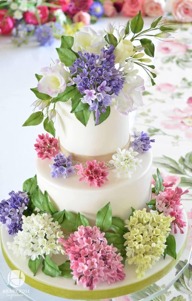Spring wedding cake ideas - lilacs