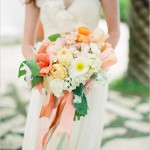 Summer Wedding Bouquets – Peach and Ivory