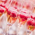 Champagne With Raspberries for Wedding Reception