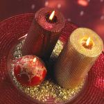 Glittering Christmas Wedding Centerpiece