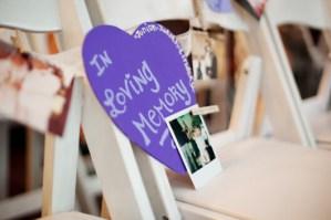 Photo: Honor deceased at wedding