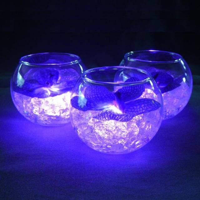 Lighted Wedding Centerpiece Using Votive Holders
