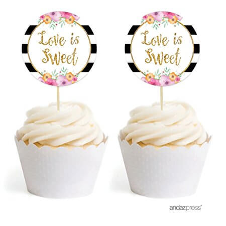 Love is Sweet cupcake toppers