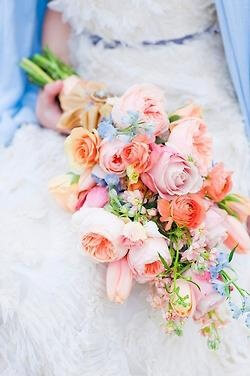 Pastel Pageant-Style Bridal Bouquet