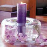 Purple Candle Wedding Centerpiece