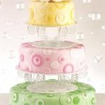 Multi-Colored Wedding Cake Ideas