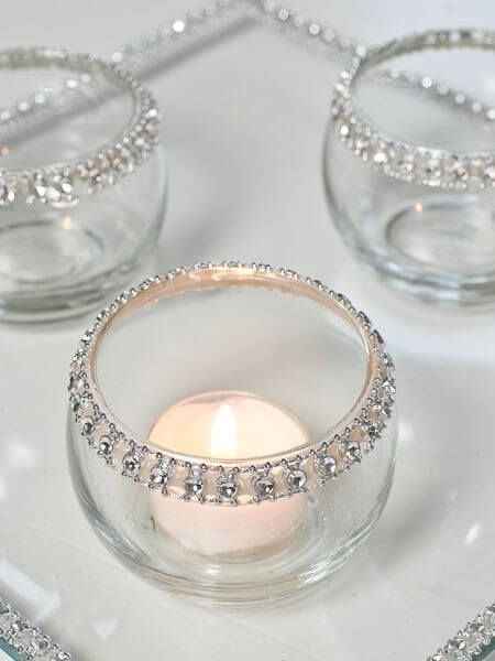 Wedding DIY - Rhinestone Rim Votive Candle Holders