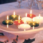 Simple Christmas Wedding Centerpieces – Floating Candles
