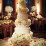 Gorgeous Wedding Cake: Eight Tier With Fresh Flowers
