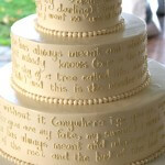 A Wedding Cake in Words…