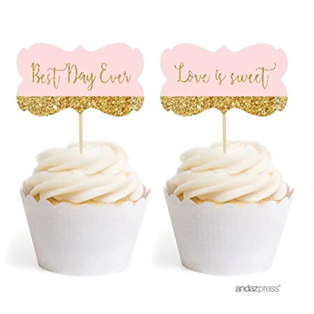 Wedding Cupcake Toppers - Best Day Ever