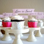 Wedding Cupcakes With Cute Message Banners