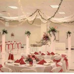 Wedding Hall Decor – Tulle and Twinkle Lights