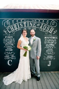 Chalkboard theme wedding photo booth