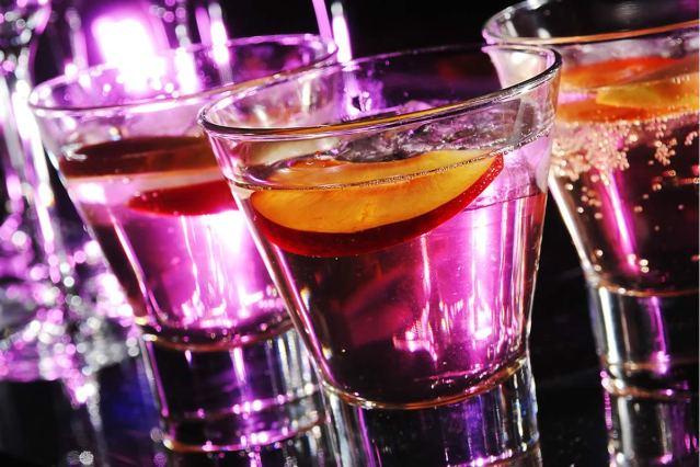 Cocktails at Wedding Reception Host Bar