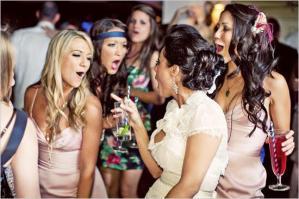 wedding reception guests