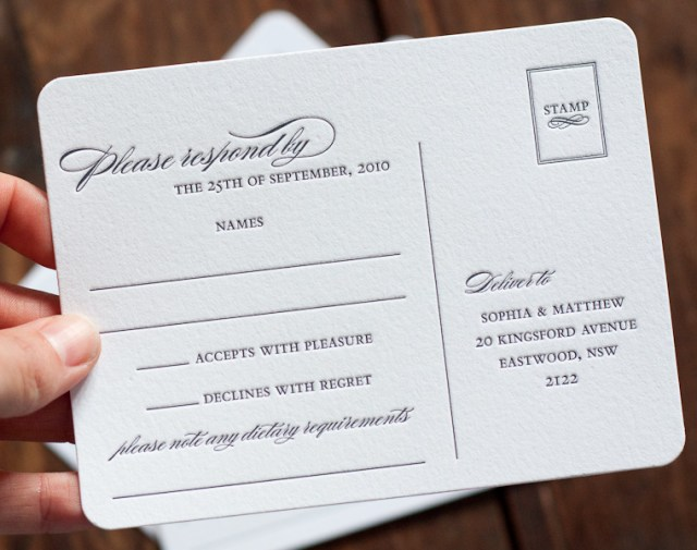 Wedding Response Cards Postcard